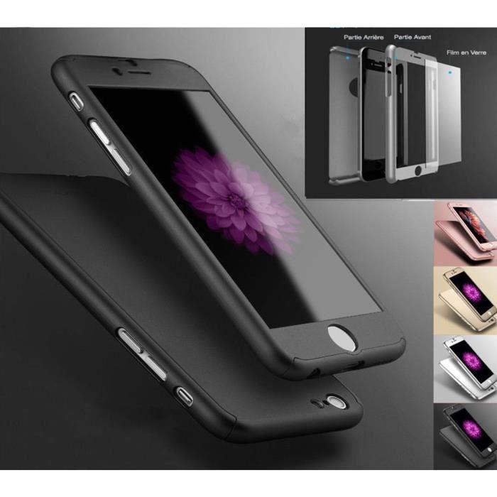 coque etui housse integrale 360 pour iphone 8 hybr