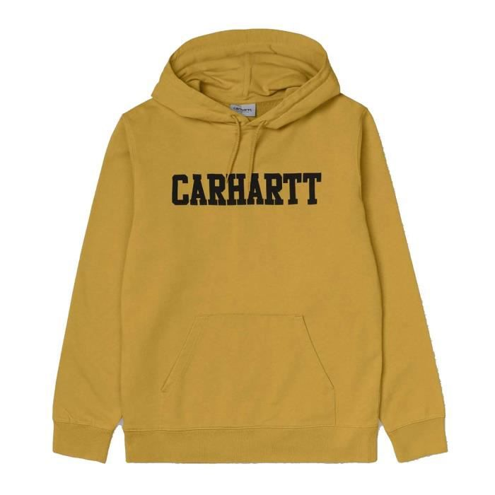 CARHARTT HOODED COLLEGE SWEAT CAPUCHE POUR HOMME JAUNE I02466947F8