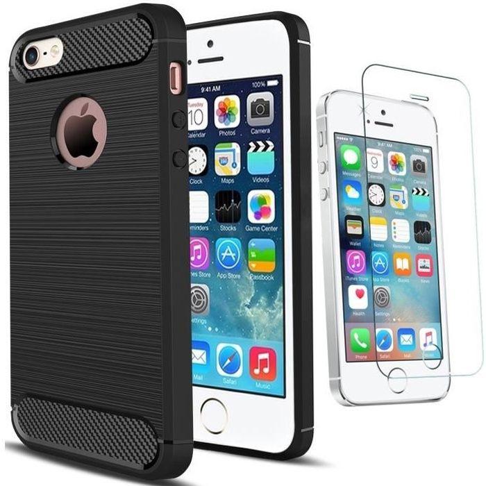 Coque iPhone 5/5S Antichoc Design Verre trempé