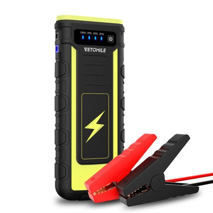 vetomile 21000mah jump starter d marrage voiture booster. Black Bedroom Furniture Sets. Home Design Ideas