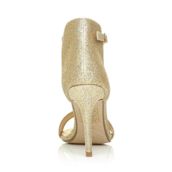 15f6fcc9cff Women's Pam Champagne Glitter Ankle Strap Barely T
