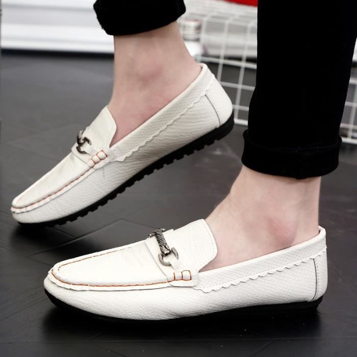 cuir Souliers Driving Mode Chaussures Chaussures simple Oxford Flats homme véritable Hommes Hommes Flats en Mocassins Chaussures pwIfqwx0