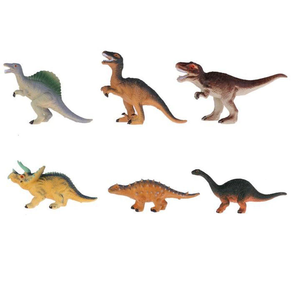 Animaux En Plastique Jouet set 6pcs dinosaures jouets figurine dinosaure en plastique