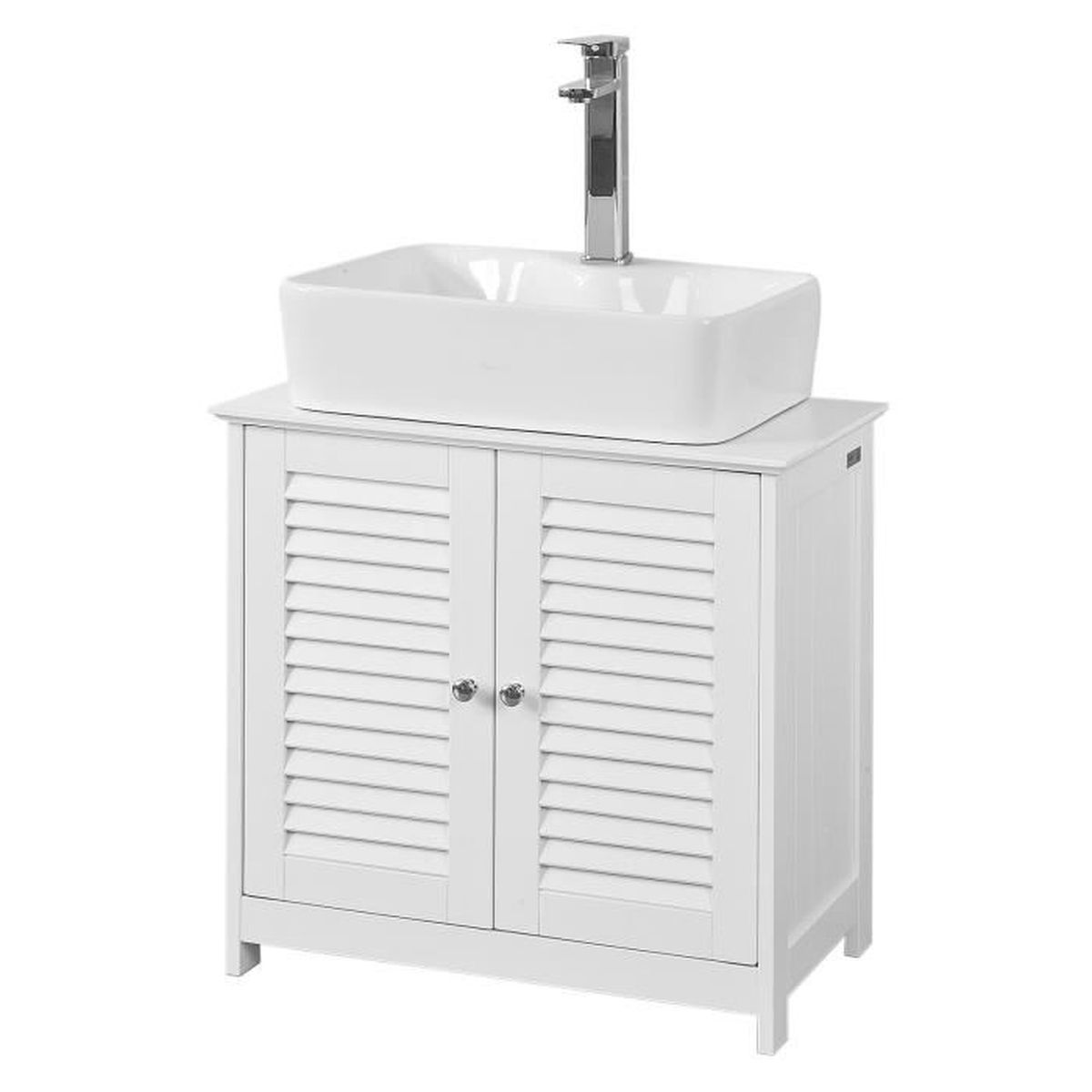 Espace Entre 2 Vasques sobuy® frg237-w meuble sous-lavabo meuble de salle de bain