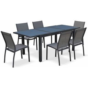 SALON DE JARDIN  Salon de jardin table extensible - Orlando Gris fo