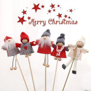 POUPÉE 5PCS Poupée de Noël Poupée Mini bâton en bambou Fi