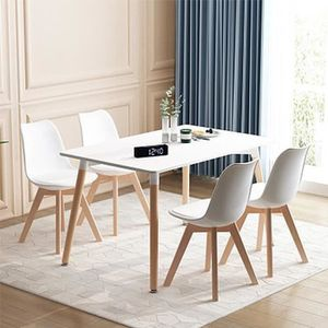 TABLE À MANGER SEULE Table à Manger Scandinave pour 4-6 Personnes avec