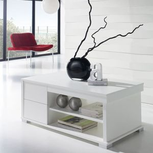 TABLE BASSE Table basse blanche relevable - NESE  - Taille : L