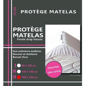 PROTÈGE MATELAS  Alese en coton molleton 160 x 200 cm