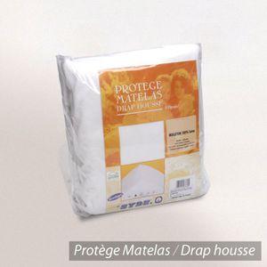 PROTÈGE MATELAS  Protège matelas 90x200cm ACHILLE Molleton 100% cot