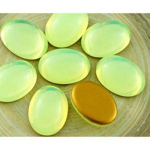 Perles 4pcs Jaune Opale pierre de Lune UV Active Ovale Bo