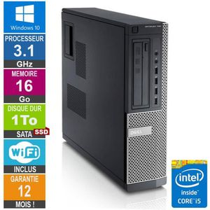 ORDI BUREAU RECONDITIONNÉ PC Dell Optiplex 790 DT I5-2400 3.10GHz 16Go/1To S
