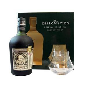 COFFRET CADEAU ALCOOL Coffret Diplomatico + 2 verres Reserva exclusiva