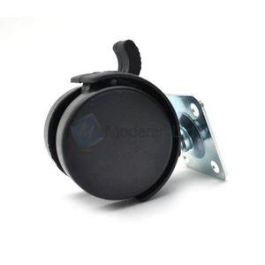 ROUE - ROULETTE 1x Roulettes pivotantes avec frein 50mm en Plastiq