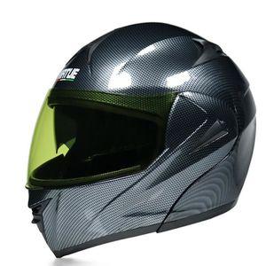 HOUSSE DE CASQUE Casque de moto Bluetooth double lentille casque in