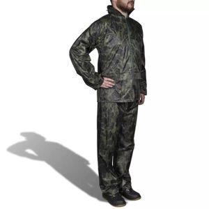 COMBINAISON DE PILOTE Combinaison de pluie avec capuche 2 pièces camoufl