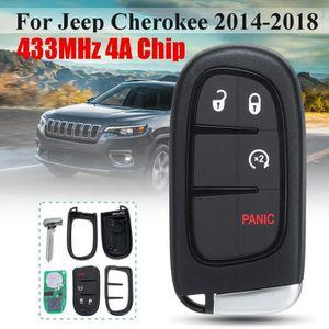 Coque de Silicone Cover Cl/é pour Jeep Renegade Cherokee Compass Wrangler Fiat 500X Fremont Chrysler Dodge Bleu 5 Boutons