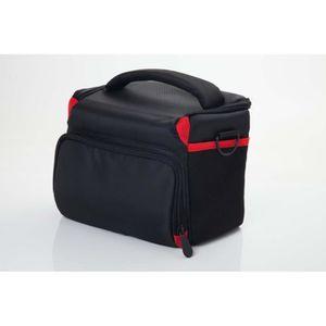 SAC PHOTO vhbw plastique photo sacoche noir-rouge pour camér