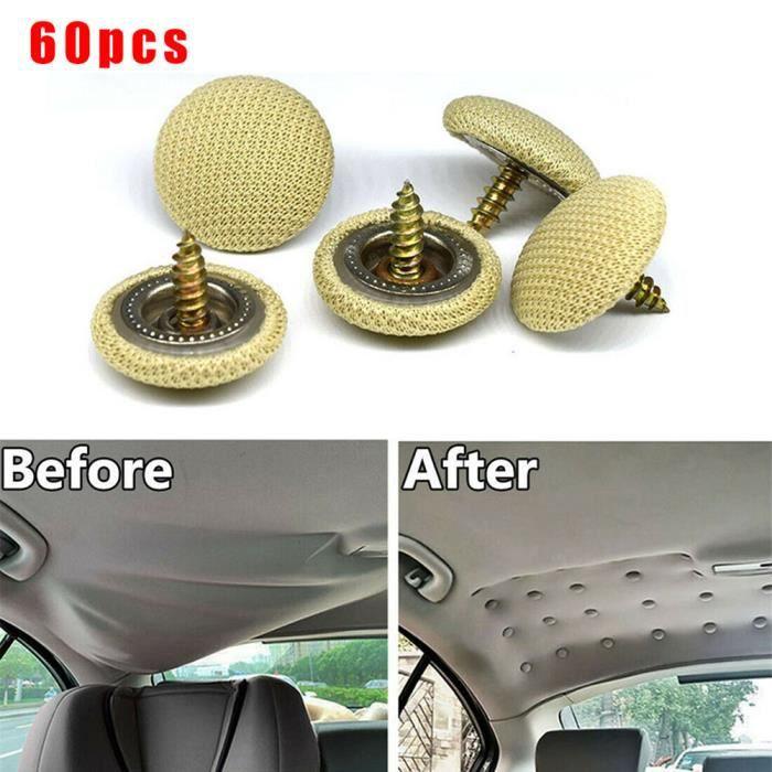 60pcs Voiture Auto Rivet Toit de Voiture Panneau Agrafe Retainer Attache Clips Garniture Rivets de Réparation de Toit de Voiture