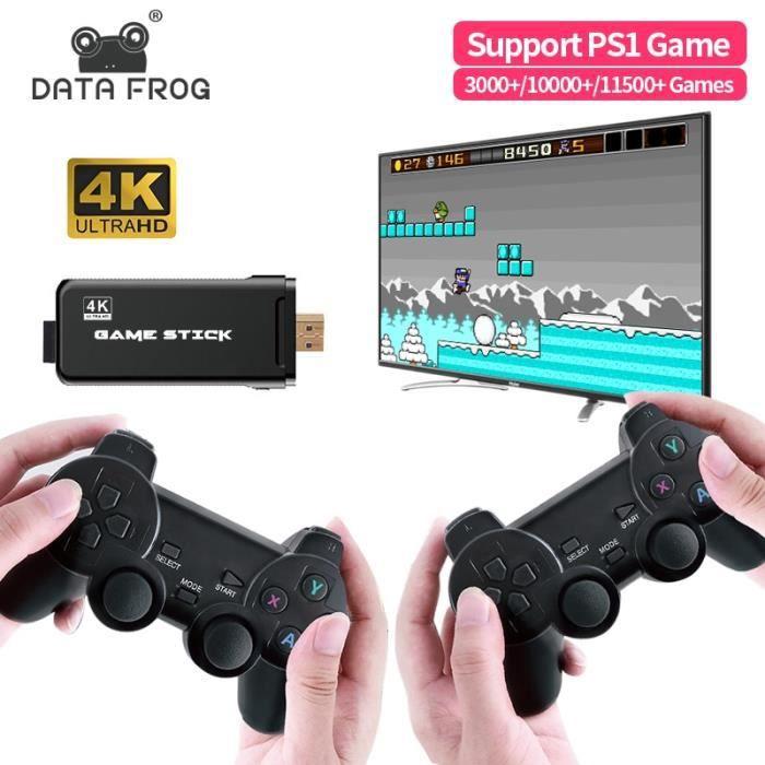 Données grenouille TV Console de jeu vidéo avec 2.4G Double contrôleur sans fil construit en 3000/10000 jeux prise en charge pour PS