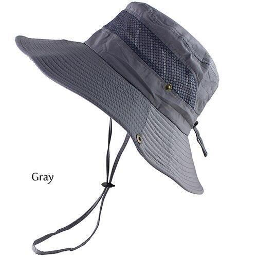 GRY Head 54 to 59cm -UPF – chapeau de soleil pour hommes et femmes, Bob 50 +, Protection UV, à Long et Large bord, randonnée, plein