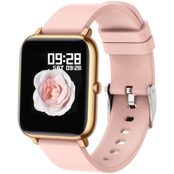 Popglory Montre connectée Femme Homme Smartwatch Cadiofréquencemètre Moniteur de Sommeil Pression Artérielle Montre Intelligente Com