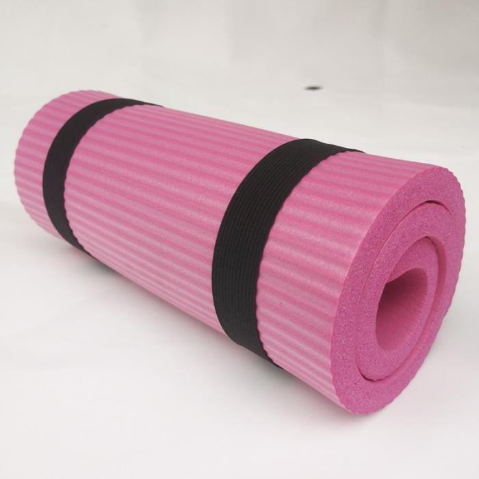 Tapis de yoga Coussin de roue abdominale Support de planche Coudière Assistant de yoga- rose