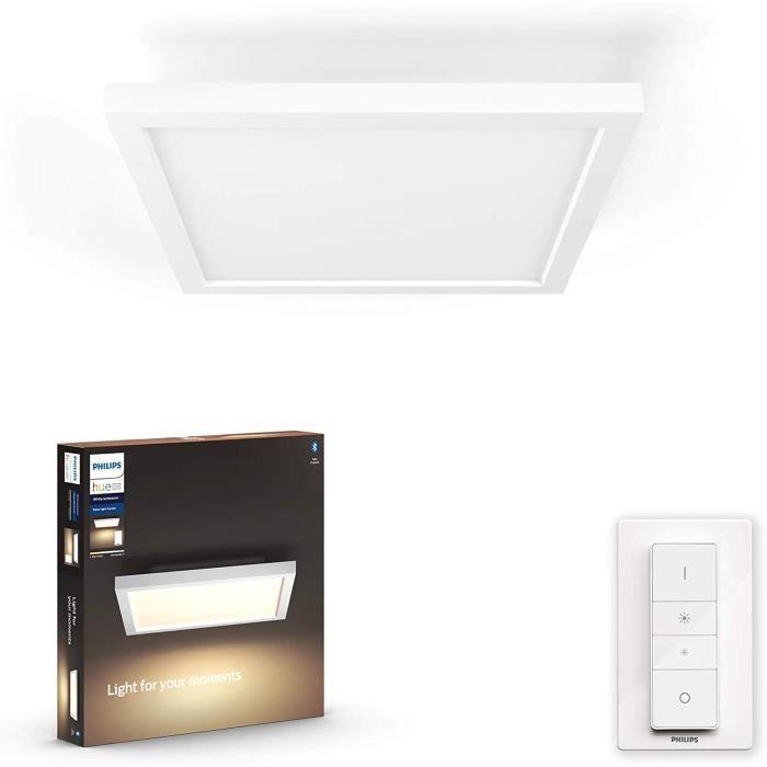 PLAFONNIER Philips Lighting Hue White Ambiance AURELLE Panneau LED 30 x 30 cm 24,5 W compatible Bluetooth - Blanc (t&eacutel&ea479
