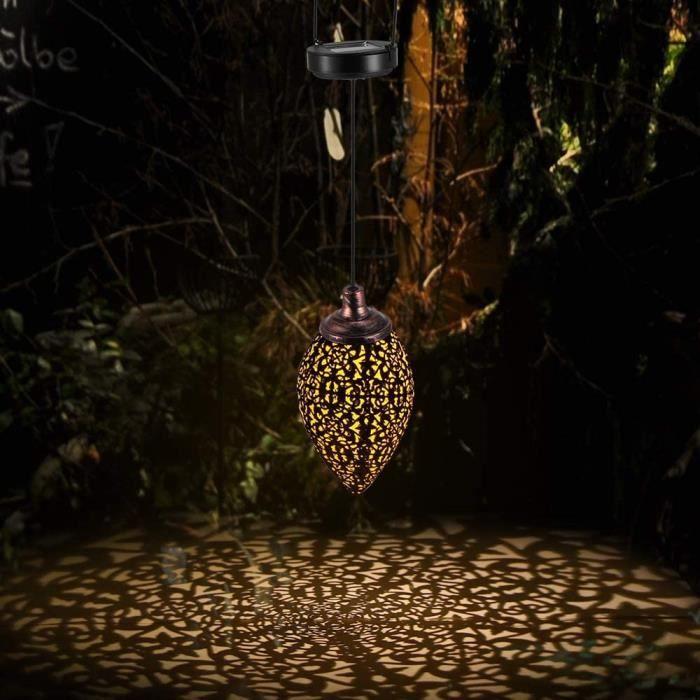 Lanternes decoratives Lanterne Solaire Suspendue en Forme dolive D&eacutecorative Ext&eacuterieure, SUNJULY Imperm&eacuteable 238