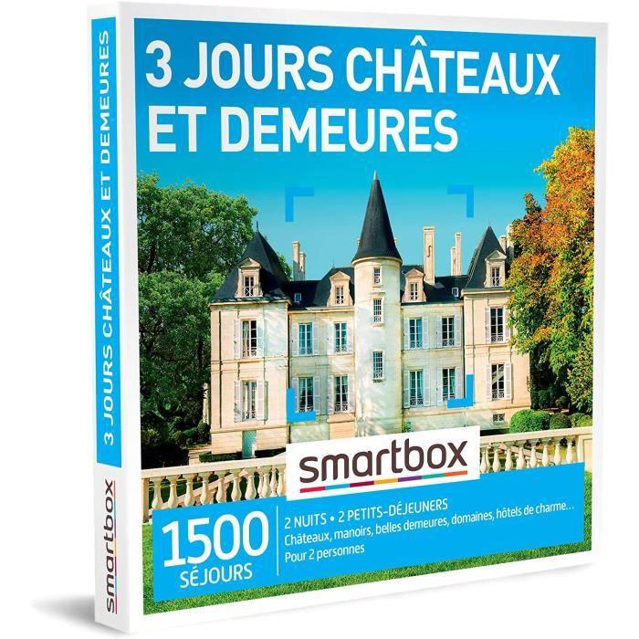 Coffrets de bain et de soins SMARTBOX - Coffret Cadeau Couple - Cadeau original : Séjour de 3 jours en châteaux et autre 84931