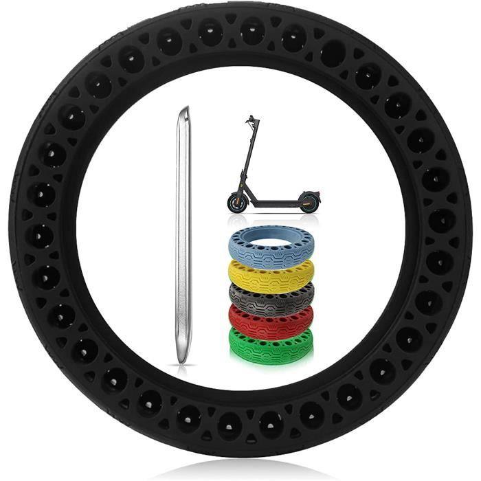 Pneu Plein pour Ninebot Max G30 Trottinette Electrique Durables Anti-Dérapant Roue de Pneu Cellulaire 10 Pouces pour Avant-Arrière d