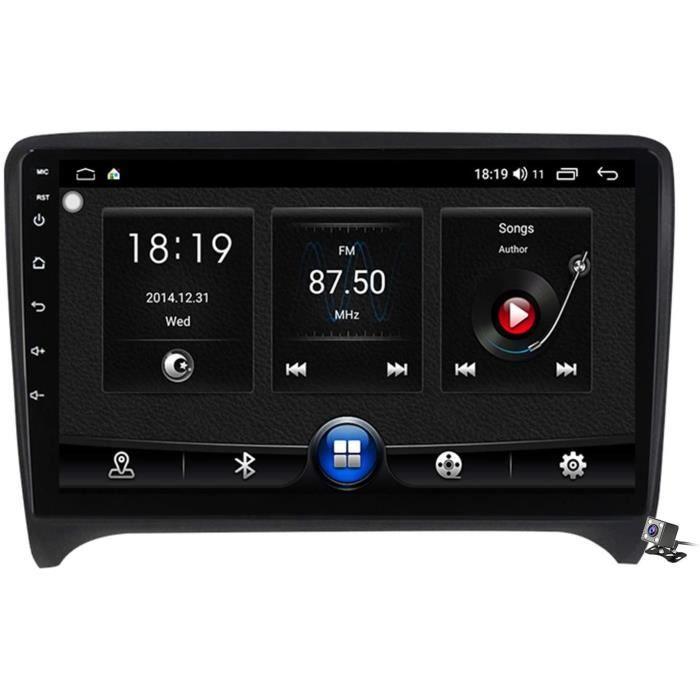 Autoradio stéréo Sat Android 10.0 pour Audi TT MK2 8J 2006-2012, Navigation GPS 9 Pouces unité Principale MP5 Lecteur multimédi 381