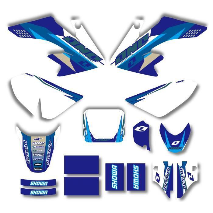 Décoration Véhicule,Nouveau Style équipe graphique et arrière plans autocollants Kits pour HONDA CRF50 CRF50F 2004 2012 - Type 021