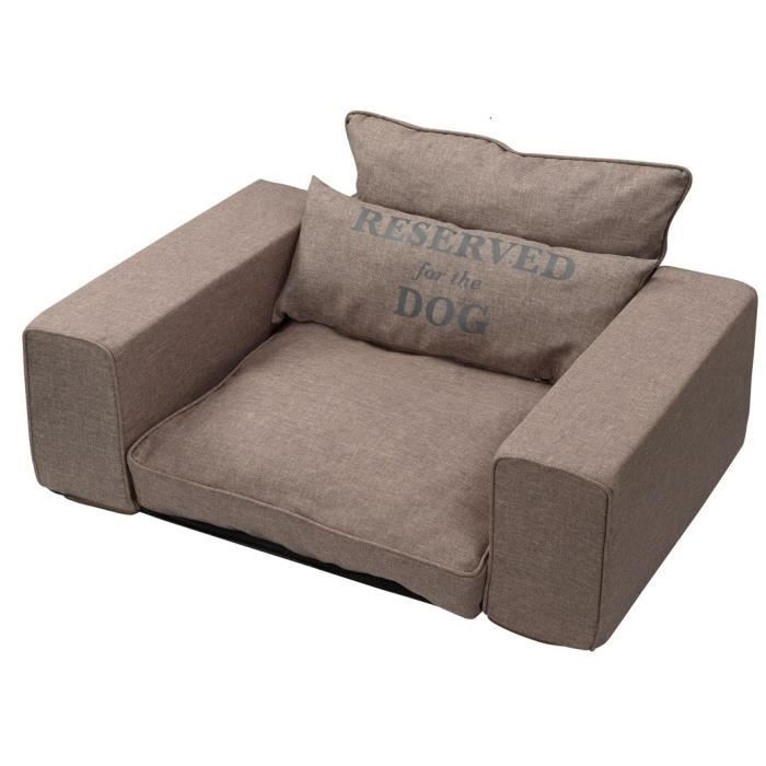 D&D Sofa pour chien Reserved - 95 x 65 x 45cm - Taupe
