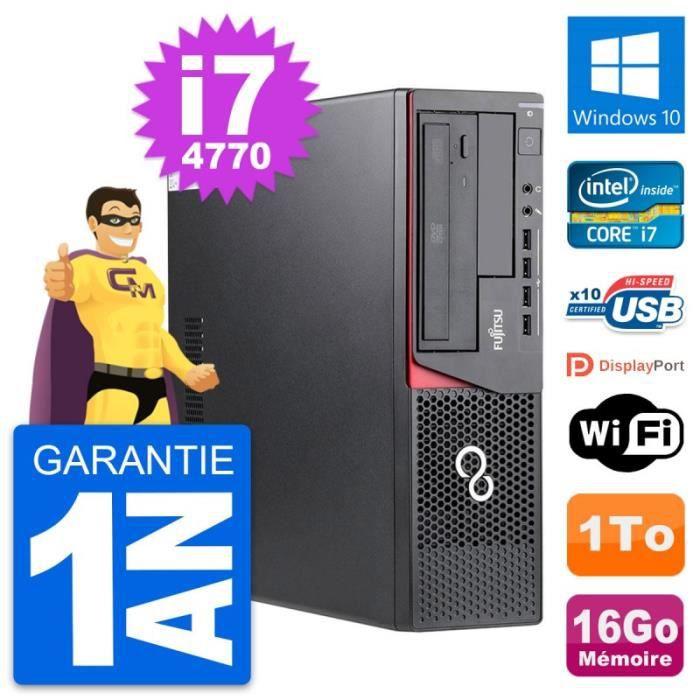 PC Fujitsu Esprimo E720 DT Intel i7-4770 RAM 16Go Disque Dur 1To Windows 10 Wifi
