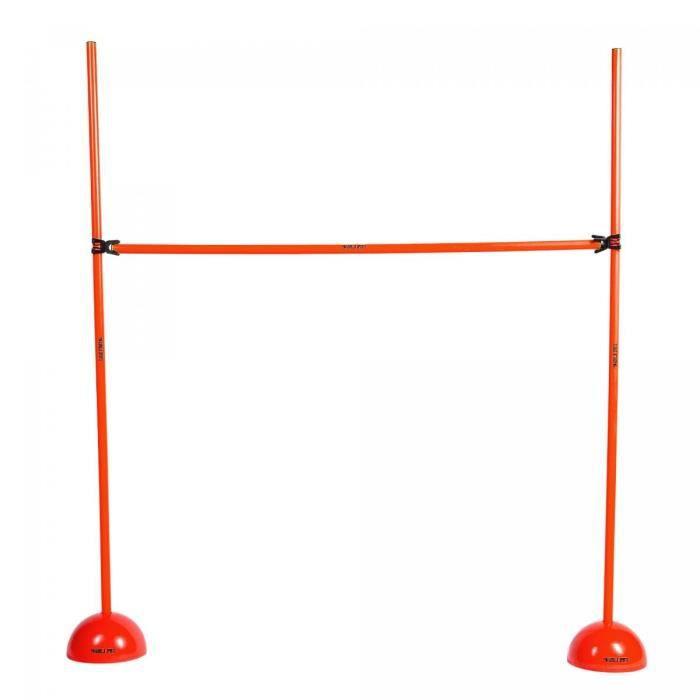 Haie d'entraînement - barre d'obstacle rouge pour saut, travail d'agilité et de coordination - Hauteur ajustable : 10,5 cm à 150 cm