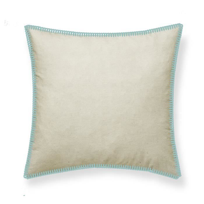 TODAY Coussin Canvas Hippie Chic en velours - 50x50 cm - Bleu