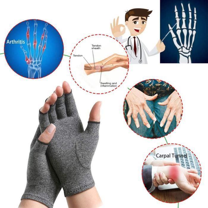 Gants de soutien du poignet en coton pour hommes et femmes, 1 paire, soulagement de la douleur des articulations, attelle de main, b