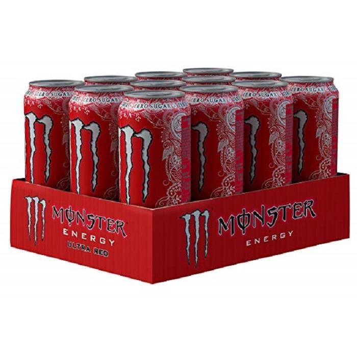 Monster Energy Ultra Red-( 473 Ml X 12 Cans )