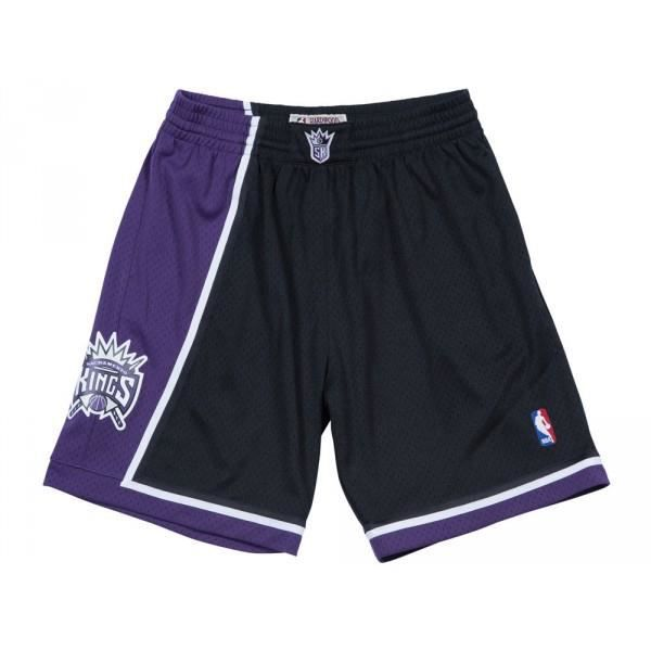 Short NBA Sacramento Kings 2000-01 Mitchell amp Ness Swingman Noir pour Homme