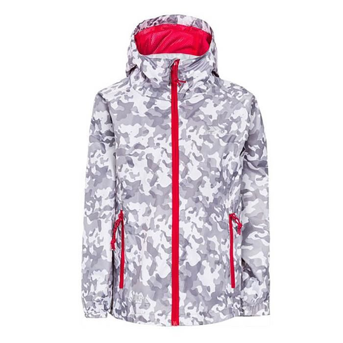 Trespass - Imperméable pliable Qikpak - Enfant (Camouflage blanc)