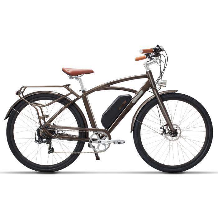 700C Vélo d'assistance électrique, vélo de ville, moteur sans brosse puissant de 400W, batterie au lithium de 48V 13Ah
