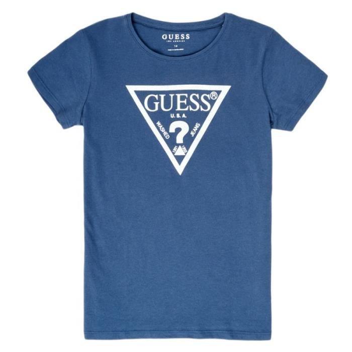 T-shirt bleu fille Guess Core
