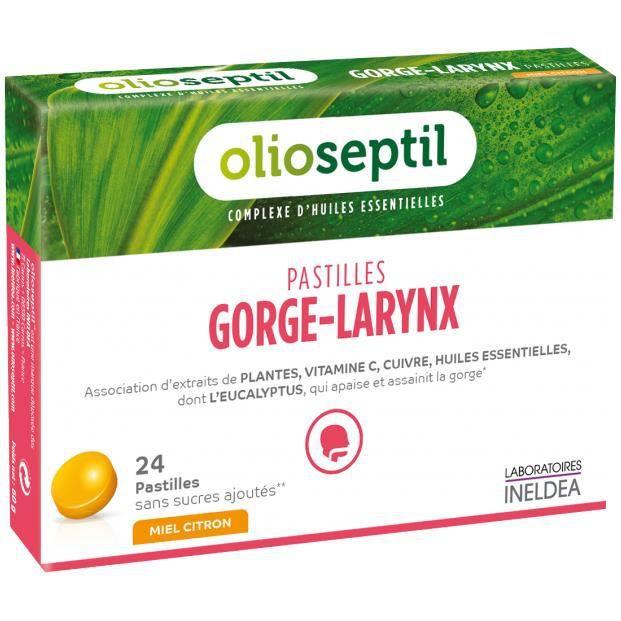 OLIOSEPTIL Pastilles Gorge-Larynx Miel Citron - 24 pastilles