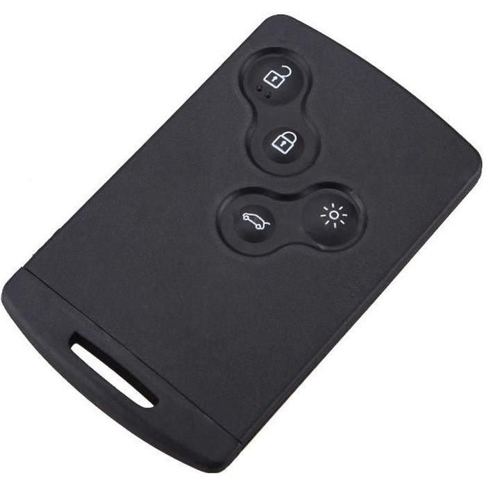 Smartcard carte cle pour renault 4 boutons laguna koleos smart coque telecommande plip @pro-plip