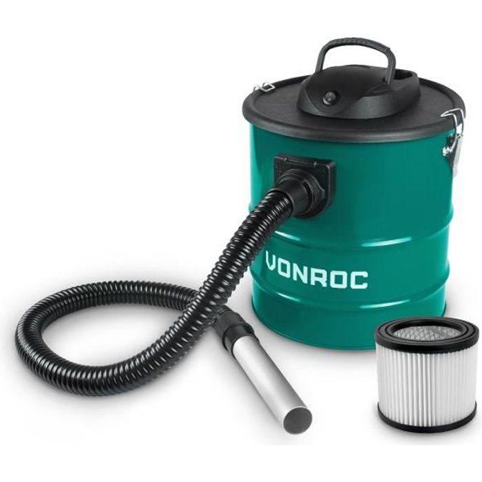 Aspirateur à cendres - Vide cendres 1600W – Réservoir de 20L – Câble d'alimentation de 3M – Pour la cheminée, le barbecue et