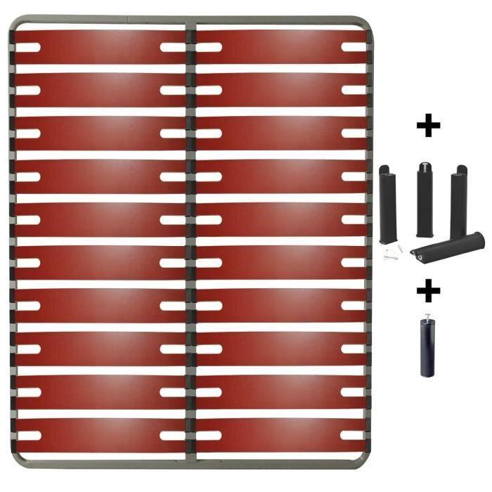 Sommier 2x10 Lattes Doubles 160x200cm AltoBuy Redline