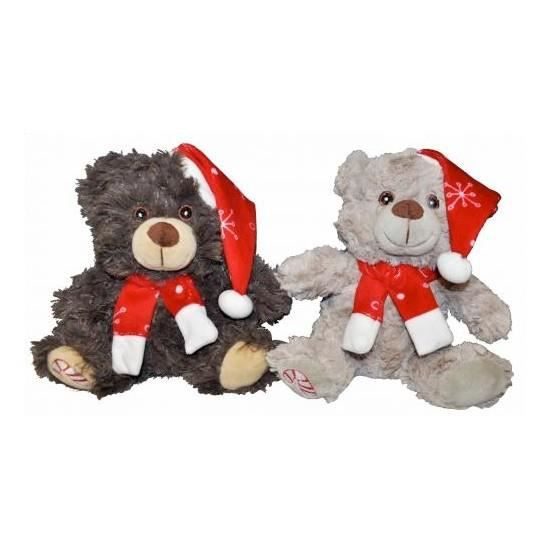 lot de 2 peluches ours noel 18cm achat vente peluche cdiscount. Black Bedroom Furniture Sets. Home Design Ideas