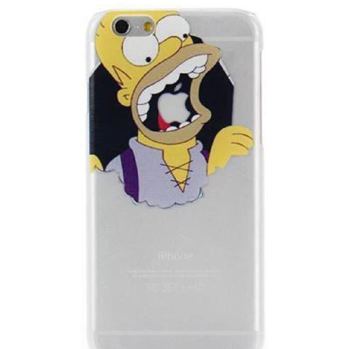 Coque IPhone 6 Homer Simpson Transparent Croquer Pomme Neuve SWAG ...
