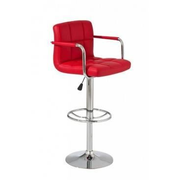 fauteuil de bar avec accoudoirs riccarda rouge achat. Black Bedroom Furniture Sets. Home Design Ideas